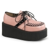CREEPER-206 Black/Pink Vegan Leather